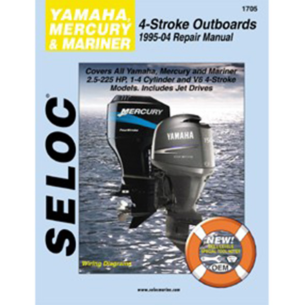 Repair Manual - Yamaha Mercury Marine Outboards, 1995-2004, All 4-stroke engines, 2.5-225HP