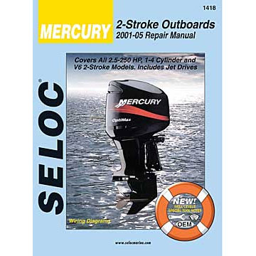 seloc marine repair manual mercury outboards 2001 2005
