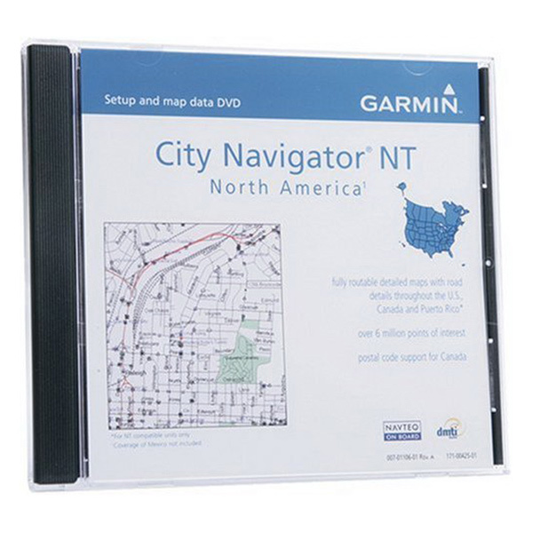 GARMIN City Navigator NT North America DVD with Map Source Software West Ma