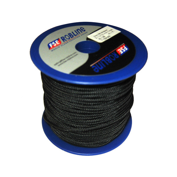 3mm Polyester Braid Mini-Spool, Black