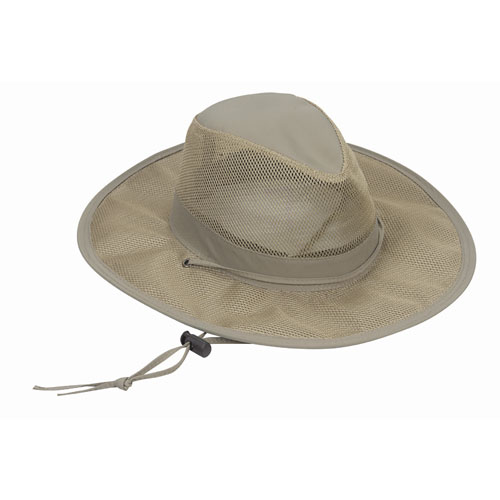 ecb826421388e Dorfman Pacific Men s Mesh-Covered Outback Hat Brown