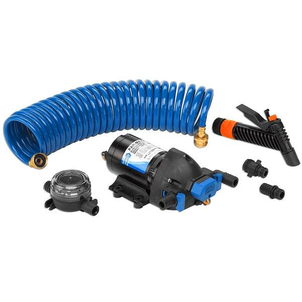4.0 GPM PAR-Max Washdown Pump Kit, 12V with 25' HoseCoil Hose