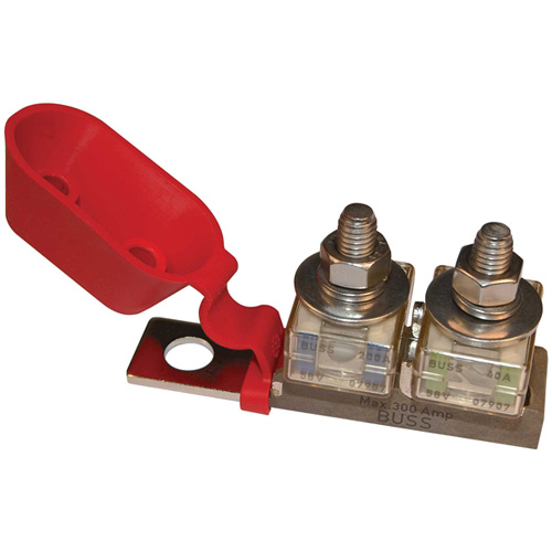 Blue Sea Systems Terminal Fuse Block, 3/8 Mounting Hole, 2 Terminal Studs