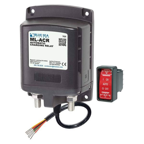Marine Battery Charging Systems : Blue sea systems ml series heavy duty automatic charging