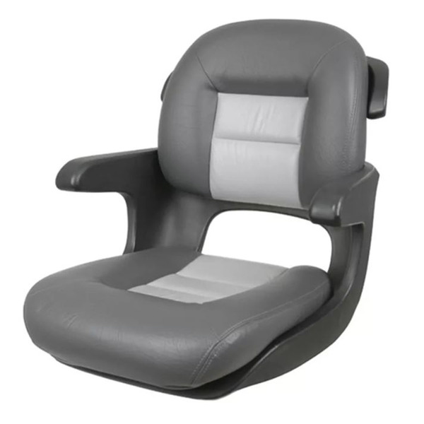Tempress Elite Helm Seat, Low Back, Charcoal/Gray