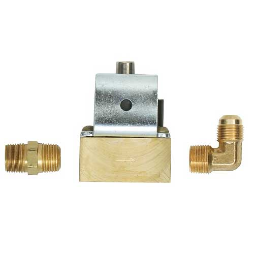 "12V Low-Pressure Brass Full-Flow 3/8"" Solenoid Valve"