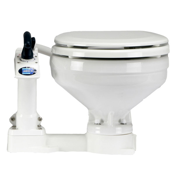 JABSCO Twist \'n\' Lock Compact Toilet (Pump on Left) | West Marine