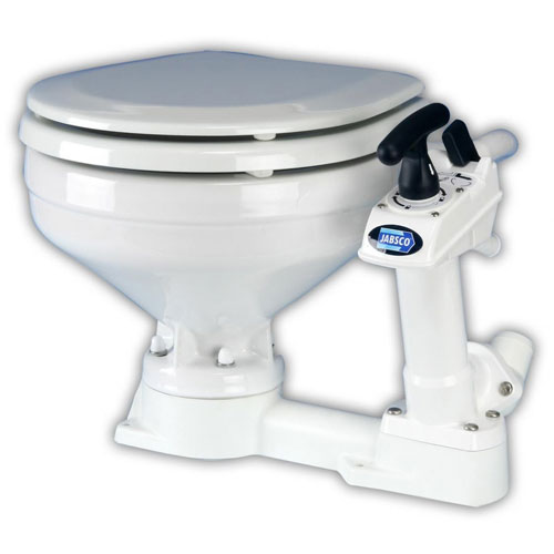 Jabsco Full-Size Twist'n'Lock Manual Toilet