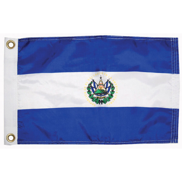 "El Salvador Courtesy Flag, 12"" x 18"""