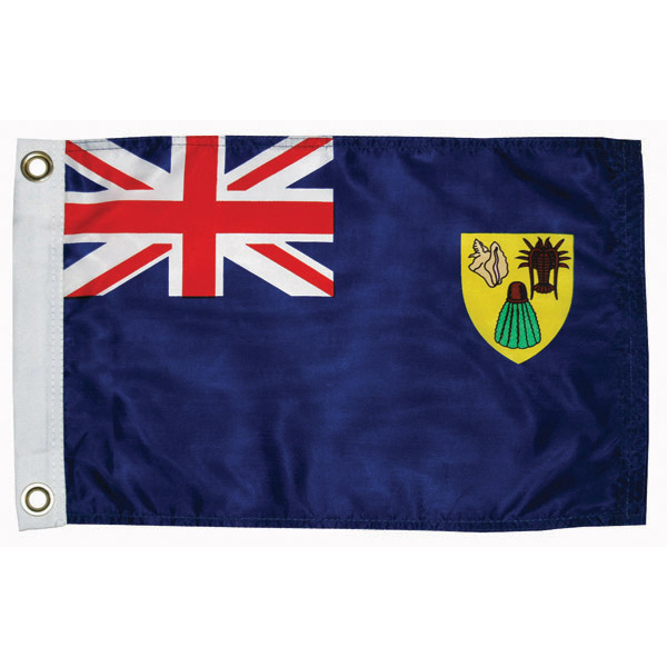 "Turks/Caicos Courtesy Flag, 12"" x 18"""
