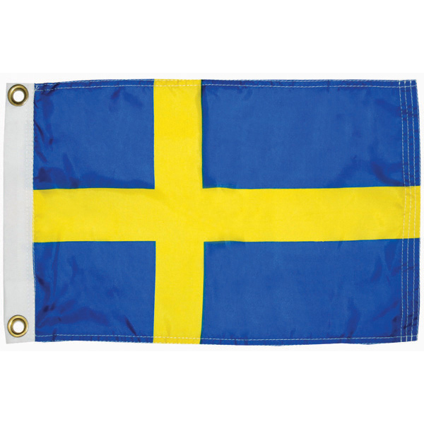 "Sweden Courtesy Flag, 12"" x 18"""