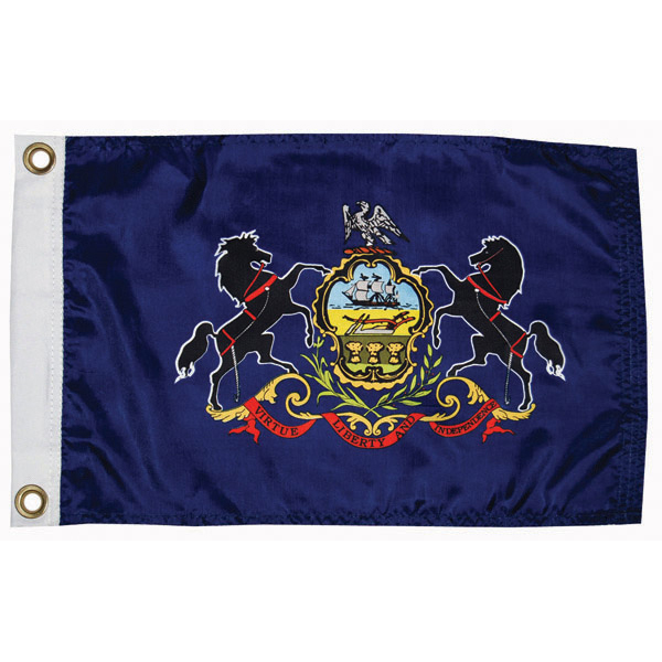 "Pennsylvania State Flag, 12"" x 18"""