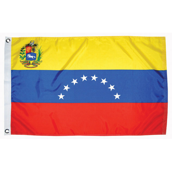 "Venezuela Courtesy Flag, 18""L x 12""W"