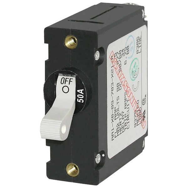 A-Series Single Pole White Toggle Circuit Breakers