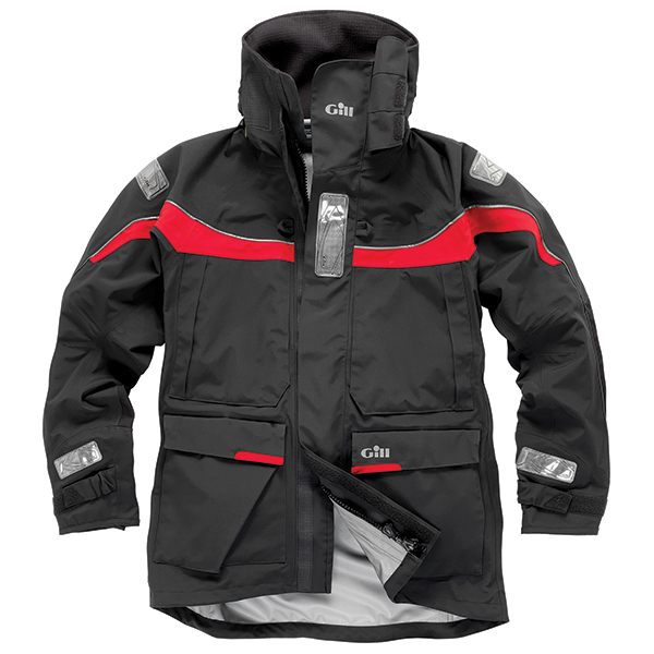 Gill Men's OS1 Offshore Foul Weather Jacket Graphite/red
