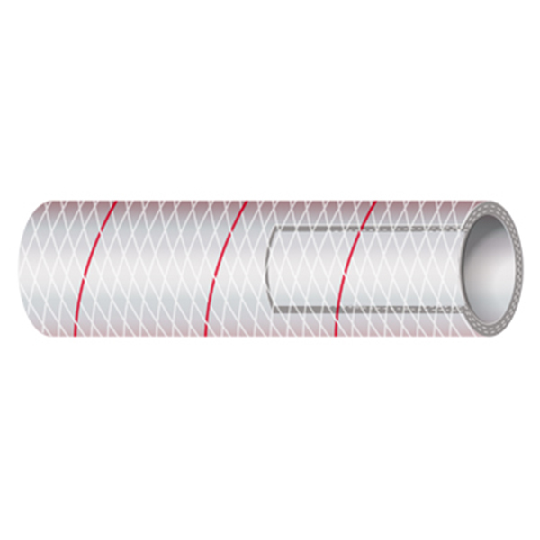 Series 162 Polyester Reinforced Clear PVC Tubing, Sold Per Foot