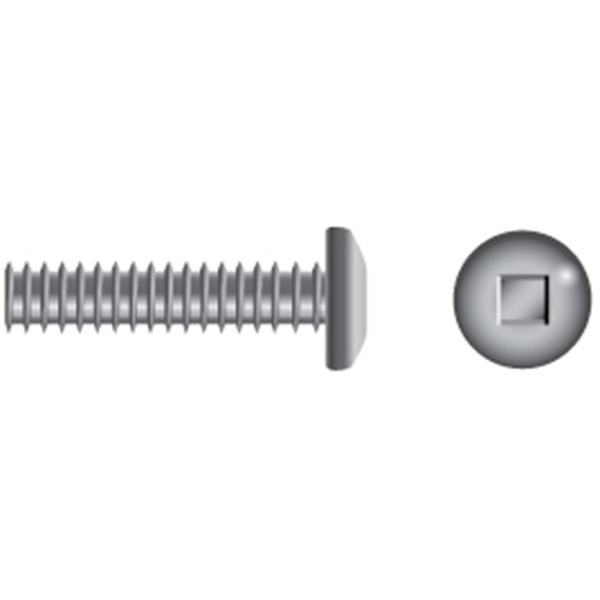 """Qty 100 Stainless Steel Square Drive Pan Head Machine Screw #8-32 x 3//4/"""""""