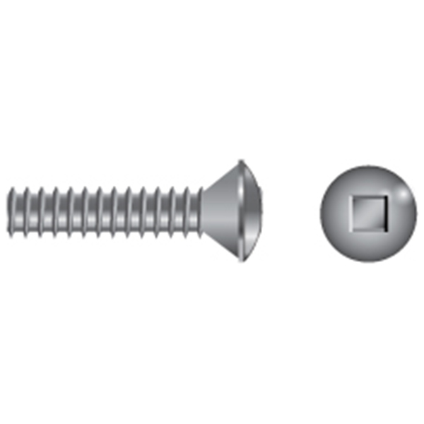 Stainless Steel Square Drive Oval-Head Machine Screws