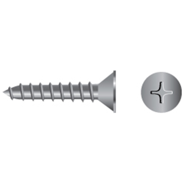 BP Stainless Steel Phillips Flat-Head Tapping Screws