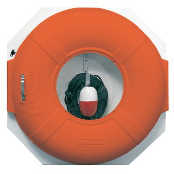 JIM BUOY Life Ring Cabinet with 60' Throw Line | West Marine
