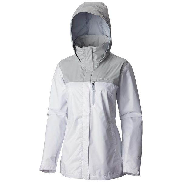 Click here for Columbia Womens Pouration Jacket White/cirrus Gray prices