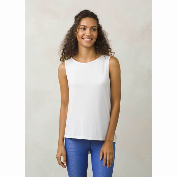 Click here for Prana Womens Twisted Tank Top White prices