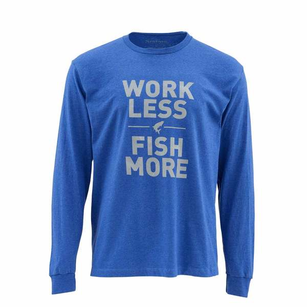Simms men 39 s work less fish more shirt west marine for West marine fishing shirts