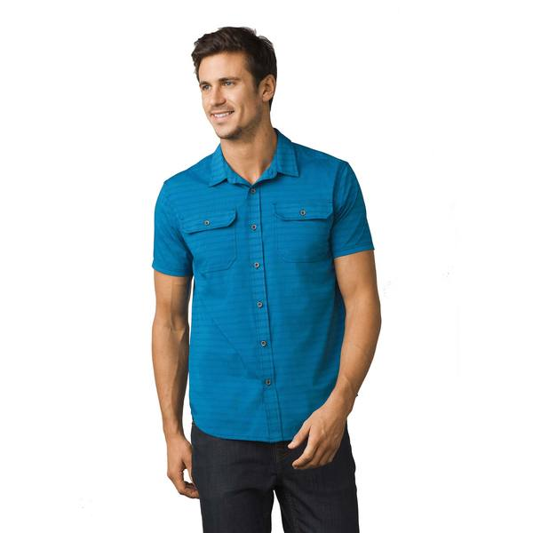 Click here for Prana Mens Cayman Shirt Blue - Size - Small prices
