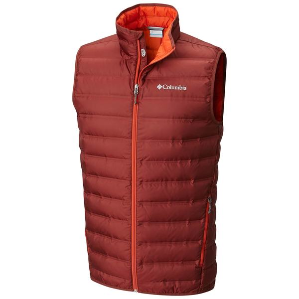 Click here for Columbia Mens Lake 22 Down Vest Deep Rust - Size -... prices