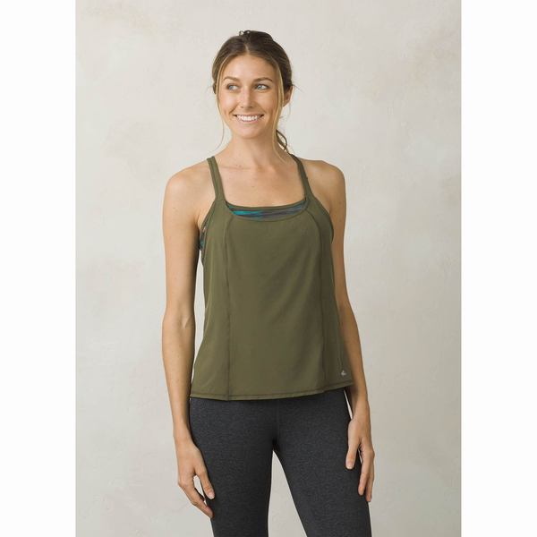 Click here for Prana Womens Sway Tank Top Green - Size - Medium prices