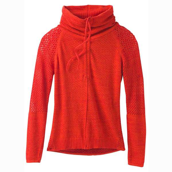 Click here for Prana Womens Cedar Sweater Fiery Red prices
