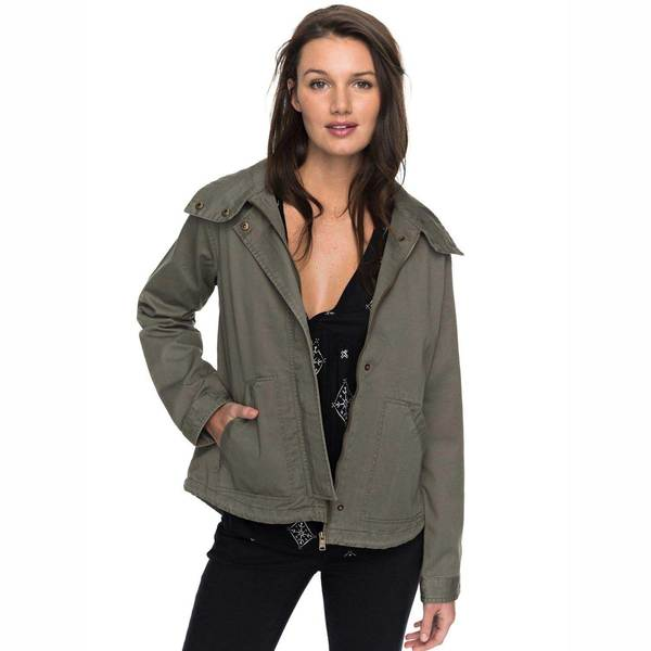 Click here for Roxy Womens Watch the Sunrise Hooded Jacket Dusty... prices