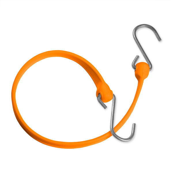 Bungee Strap with Galvanized Hook Ends, Orange