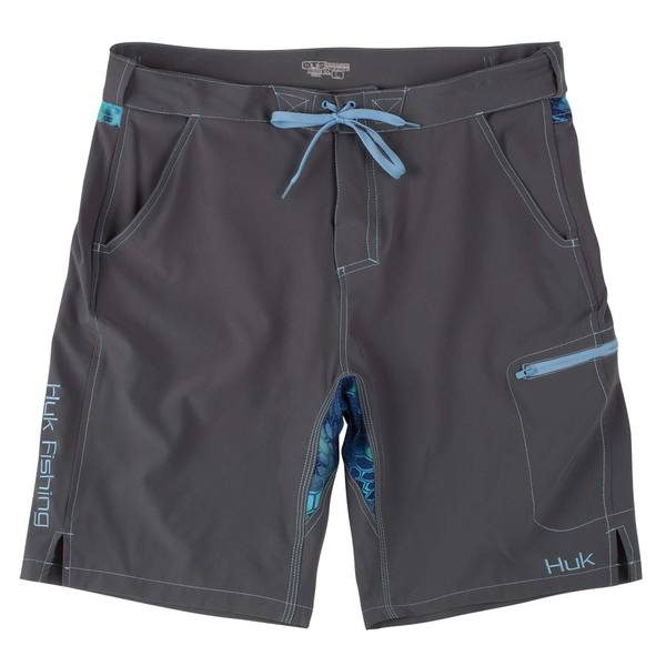 Huk men 39 s next level board shorts west marine for Huk fishing shorts