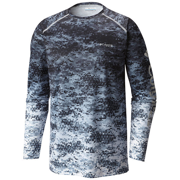 Columbia men 39 s pfg terminal tackle camo fade shirt west for West marine fishing shirts