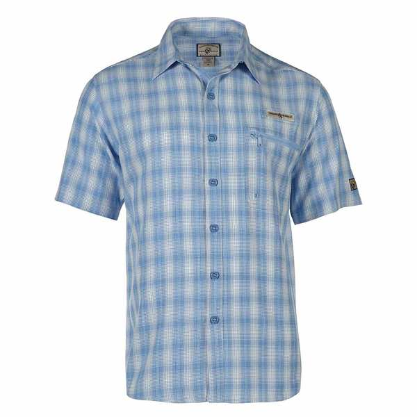 Hook tackle men 39 s exmouth uv vented fishing shirt west for West marine fishing shirts