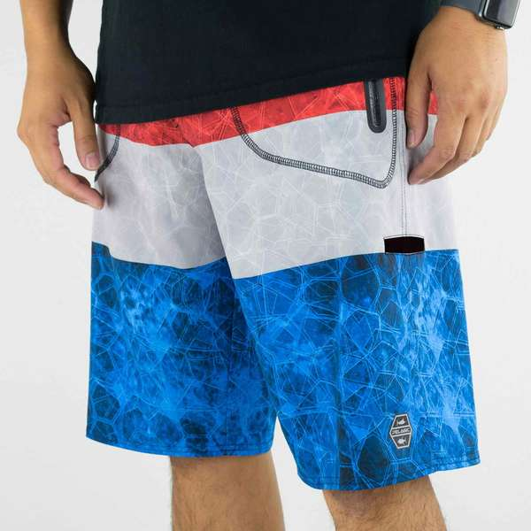 Men's Hydro-Lite Hex-Stacked Board Shorts
