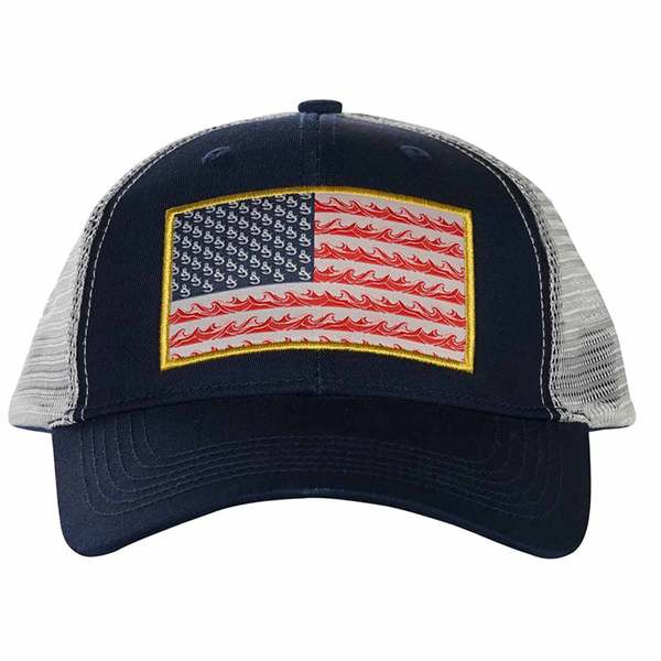 51679936 HOOK & TACKLE Flag Waver Fishing Trucker Hat | West Marine