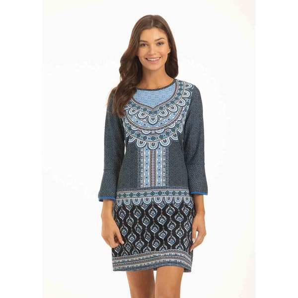 Women's Santorini Peplum Sleeve Dress