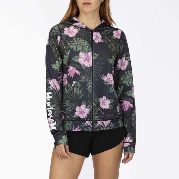 Women's One & Only Lanai Zip Front Hooded Rash Guard