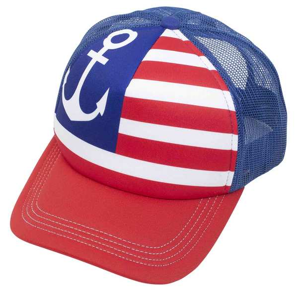 Star Spangled Anchor Trucker Hat
