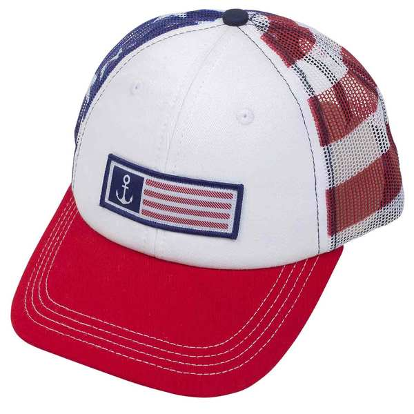 Patriotic Anchor Flag Trucker Hat