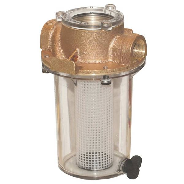 Groco Npt Arg Raw Water Strainer With Plastic Strainer