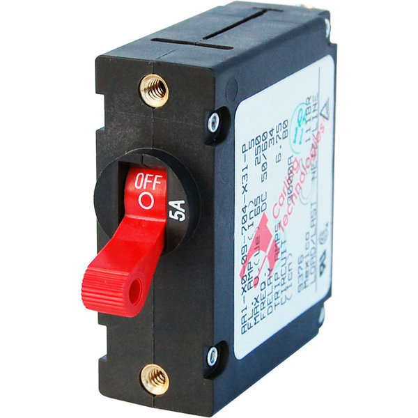 A-Series Single Pole Red Toggle Circuit Breakers