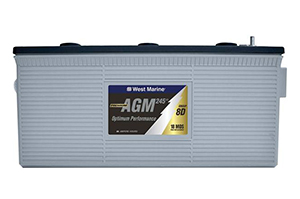 West Marine AGM group 8D battery