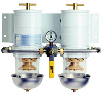 Double manifold fuel-water separator