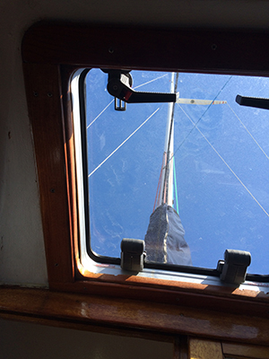 clear hatch installed on a boat