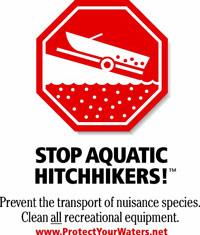 Stop aquatic hitchhikers warning sign