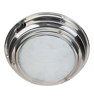 interior LED dome light for a boat
