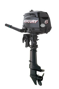 six horsepower Mercury four stroke outboard motor